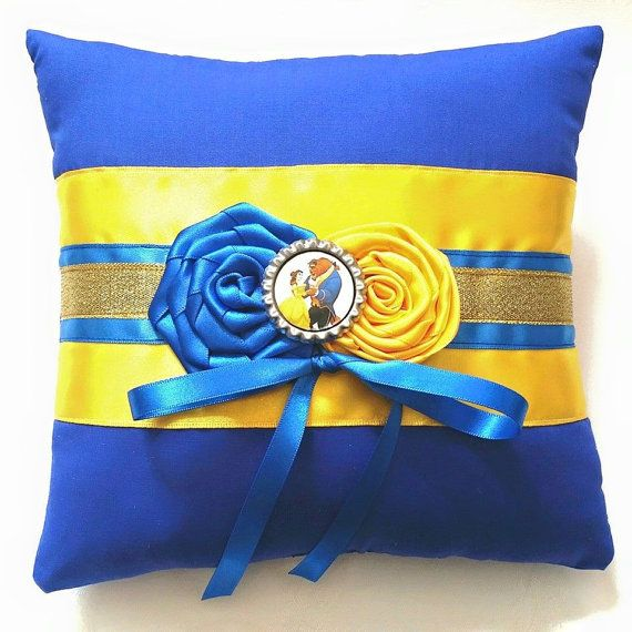 Beauty and the Beast Wedding Ring Pillow- inch pillow)