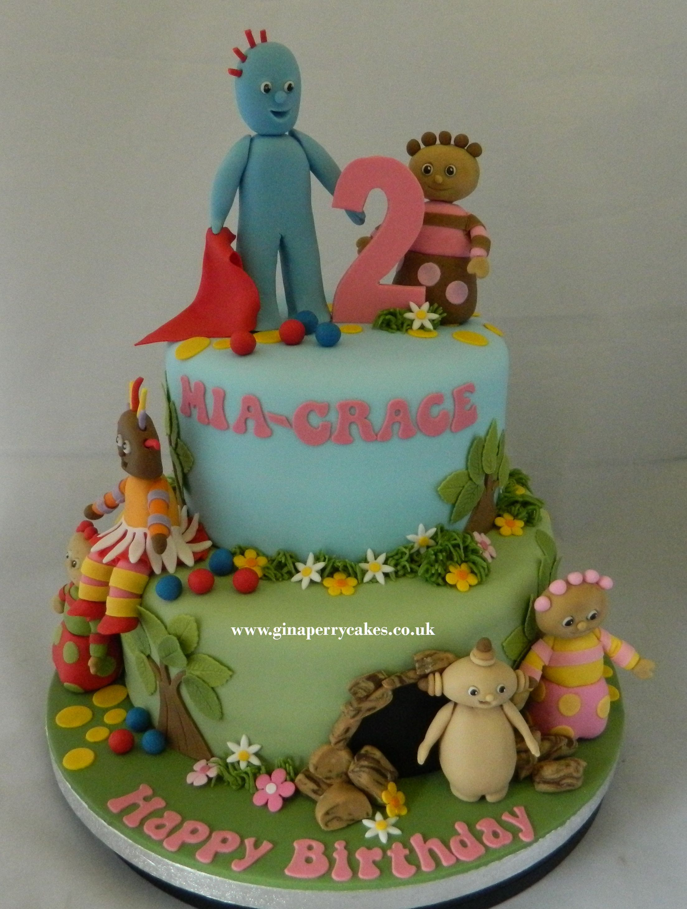 In the Night Garden cake with Iggle Piggle Upsy Daisy and the