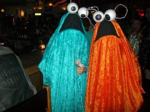 Homemade Yip Aliens From Seseame Street Costumes