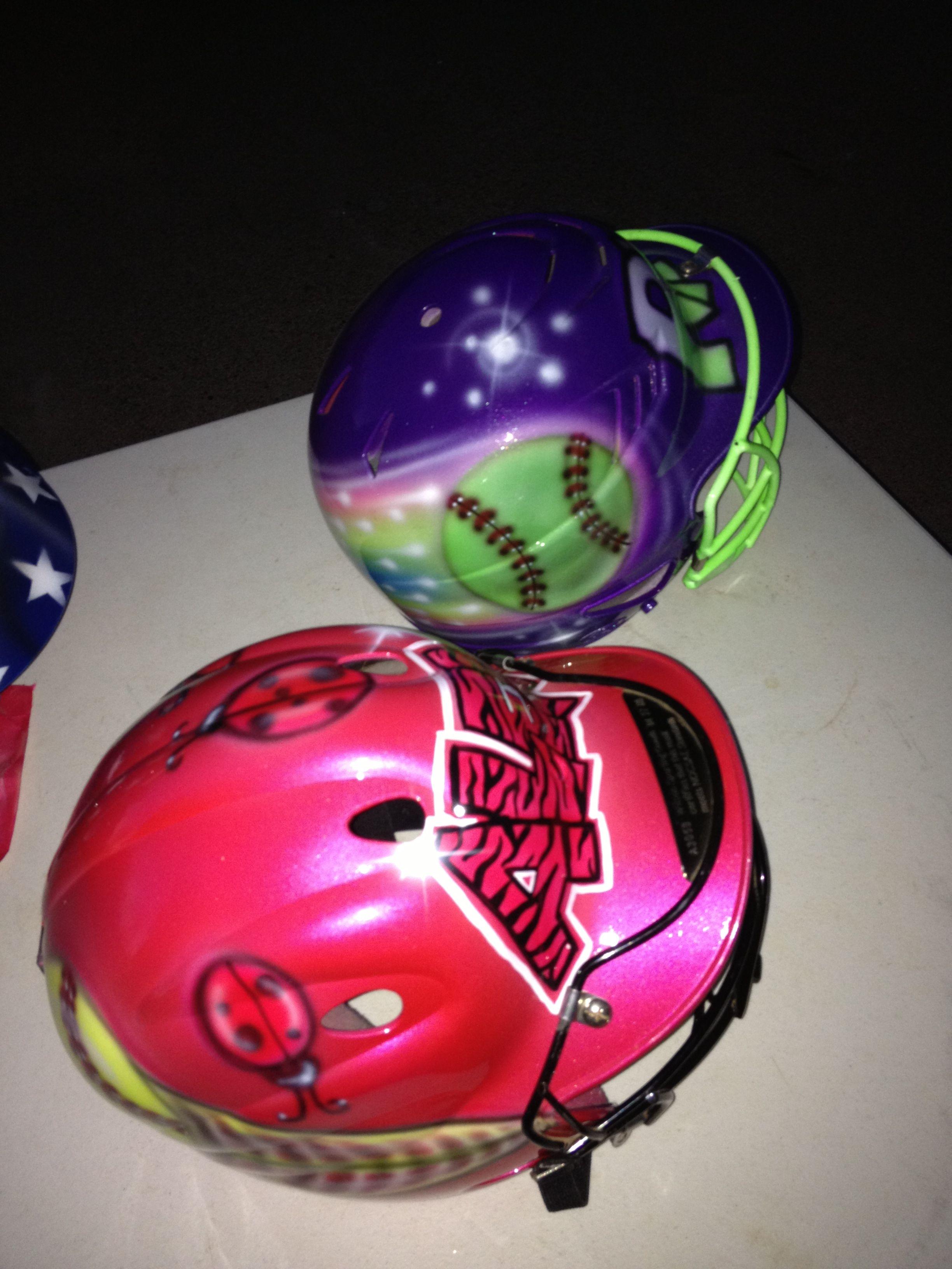 Custom Airbrushed Softball Helmets Softball Helmet