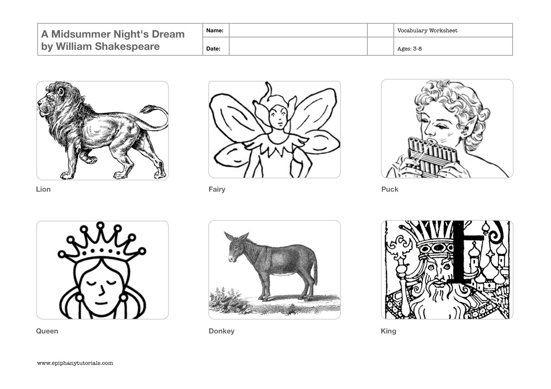 Teaching Shakespeare to young children: Free downloadable