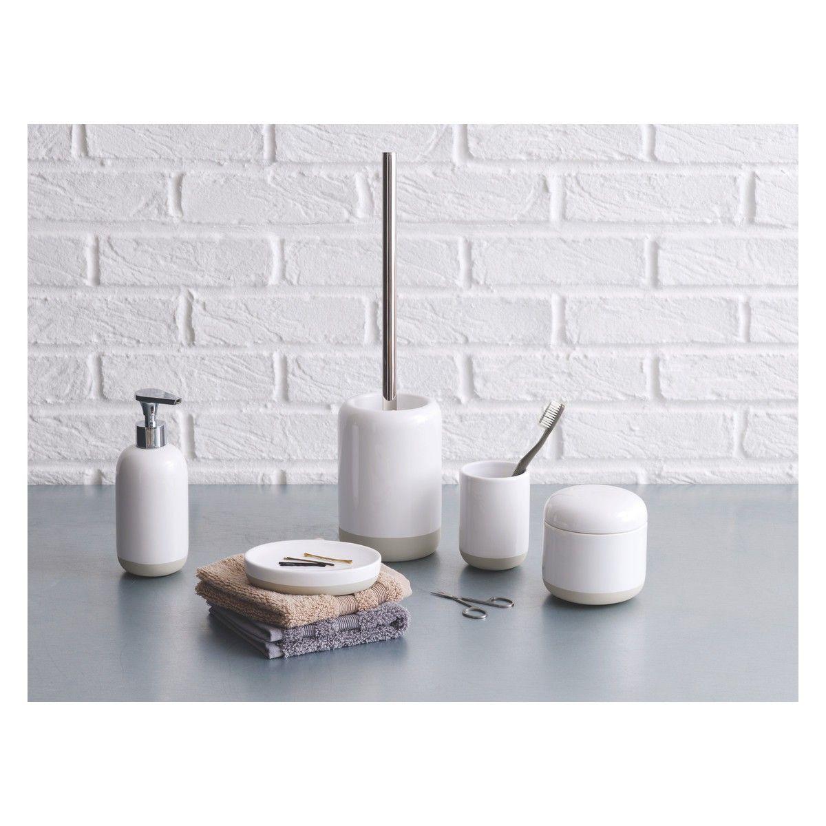 Habitat Lexie White Ceramic Bathroom Accessories Bathroom Accessories Sets Bathroom Accessories White Ceramics