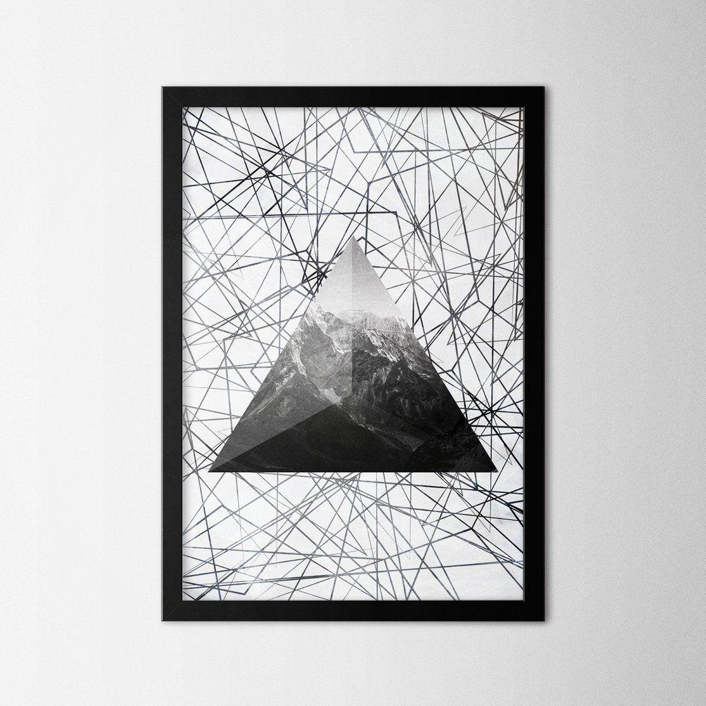 Geometric mountain northshire metal wall art metal