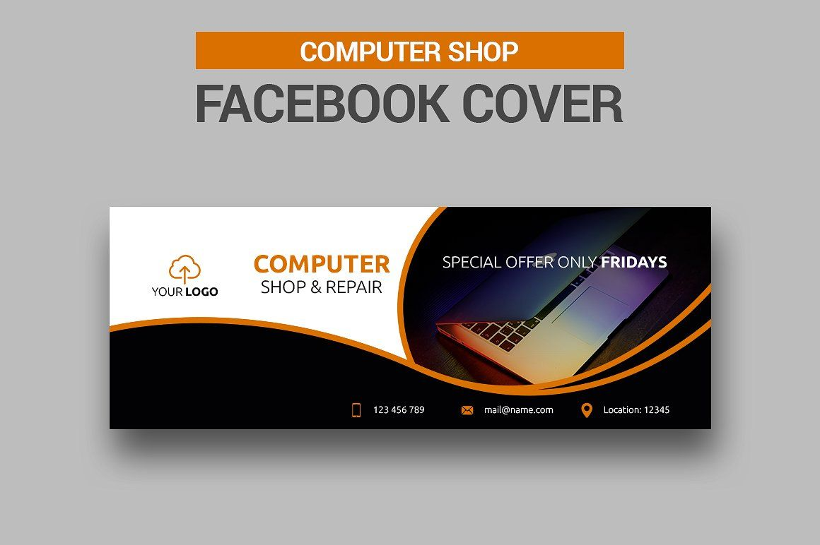 6 Computer Shop Facebook Covers #resolution#high#templates