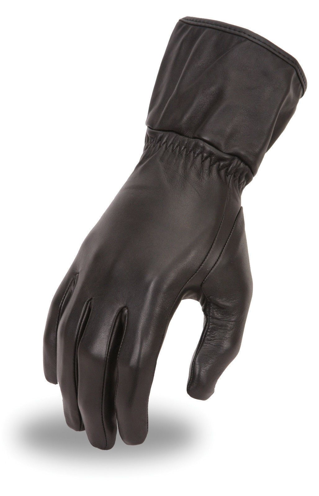 Womens leather biker gloves - Details About Womens Leather Motorcycle Gauntlet Riding Gloves W Cinch Tight Wrist Fi122gl
