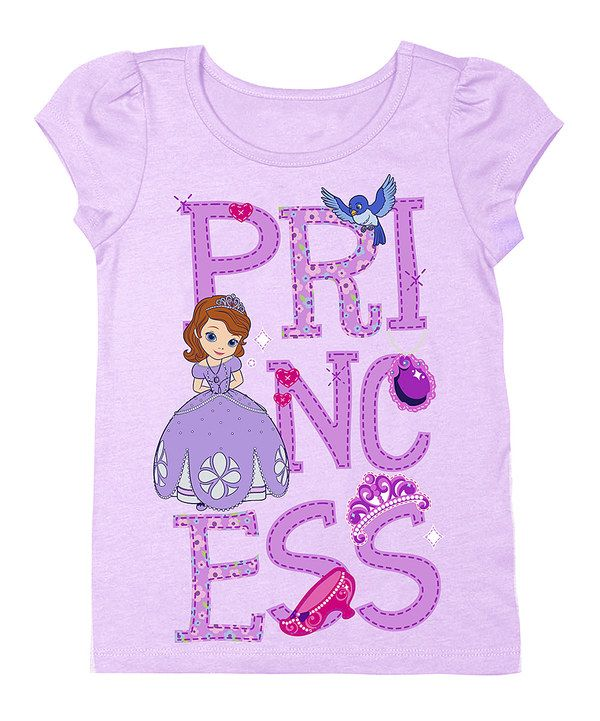 Look at this Lilac  Princess  Sofia the First Tee - Toddler on  zulily today ! 5af5e2e4b