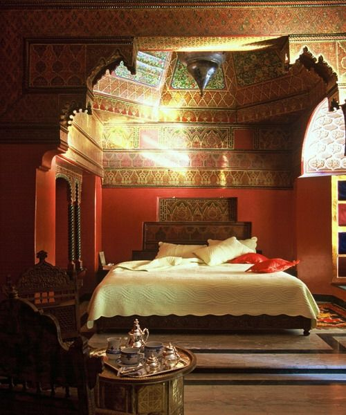 15 idées de décoration de chambre à coucher marocaine ...