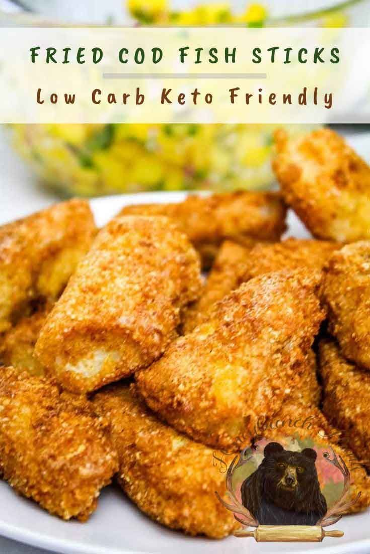 Fried Cod Fish Sticks are a #ketorecipe for fresh #fish that tastes so good your family won't believe they are #lowcarb! #cod