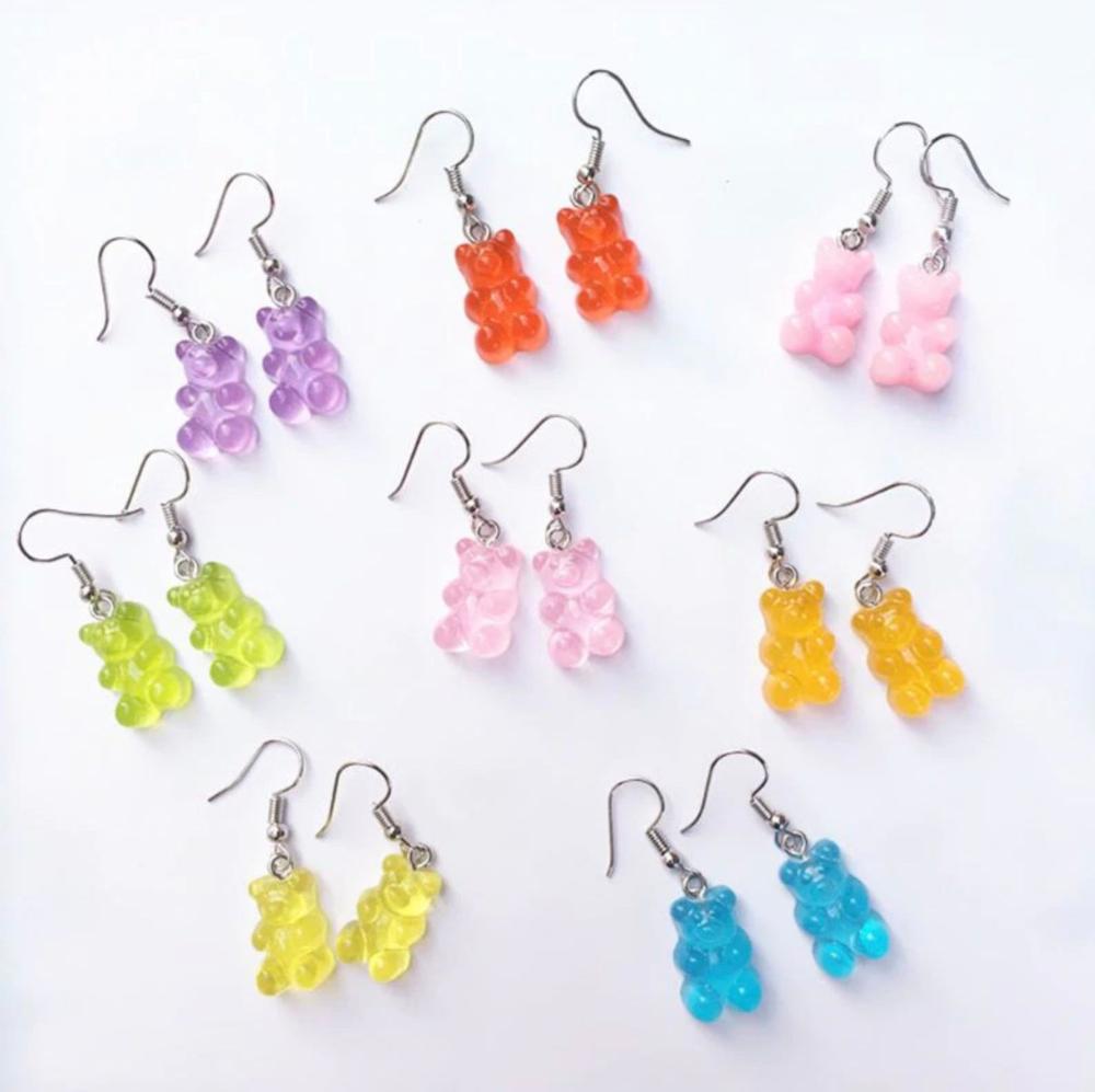 Gummy Bear Earrings Gummi Bear food candy sweets in 2020