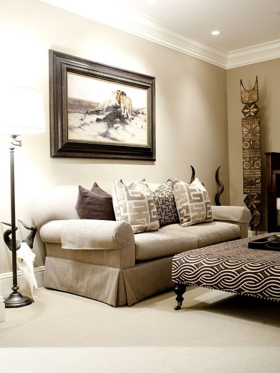 African Style Living Room Design Simple Living Room With Africanstyle Accents Condo  Pinterest Design Inspiration