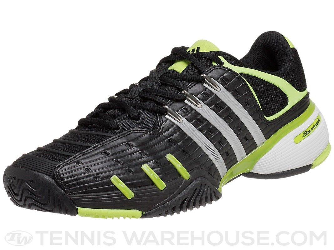 adidas Barricade V Classic Bk/Silver/Green Men's Shoe | Tennis Warehouse
