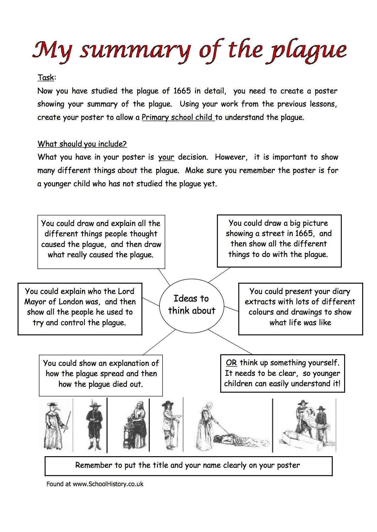 The Great Plague Worksheets