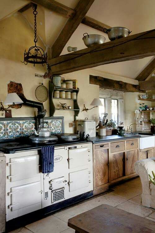 Keuken aga stove herd farmhouse kitchen decor cottage kitchens home also best decorating ideas images in country homes rh pinterest