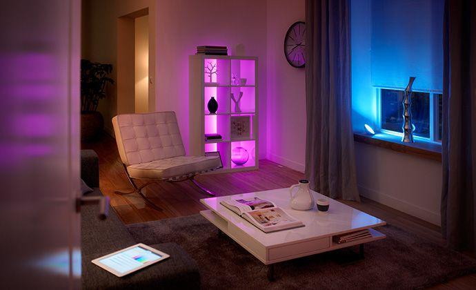 Epic Das Steuerungssystem Philips hue bietet die M glichkeit Leuchten und Lampen zentral per App zu steuern und sogar die Farbe einzustellen