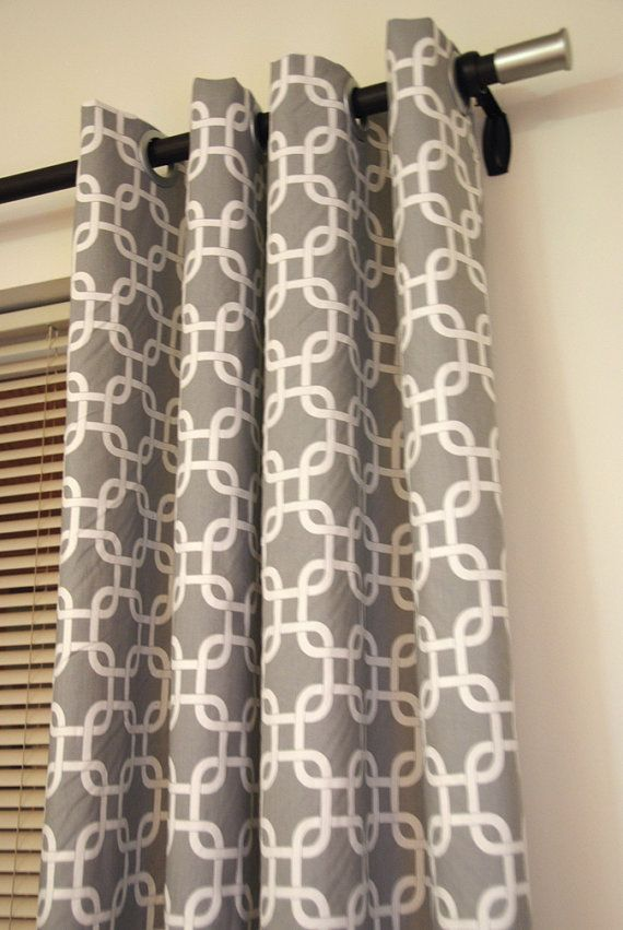 Trellis Link Designer Storm Gray Window Curtain By Maisonboutique 13800