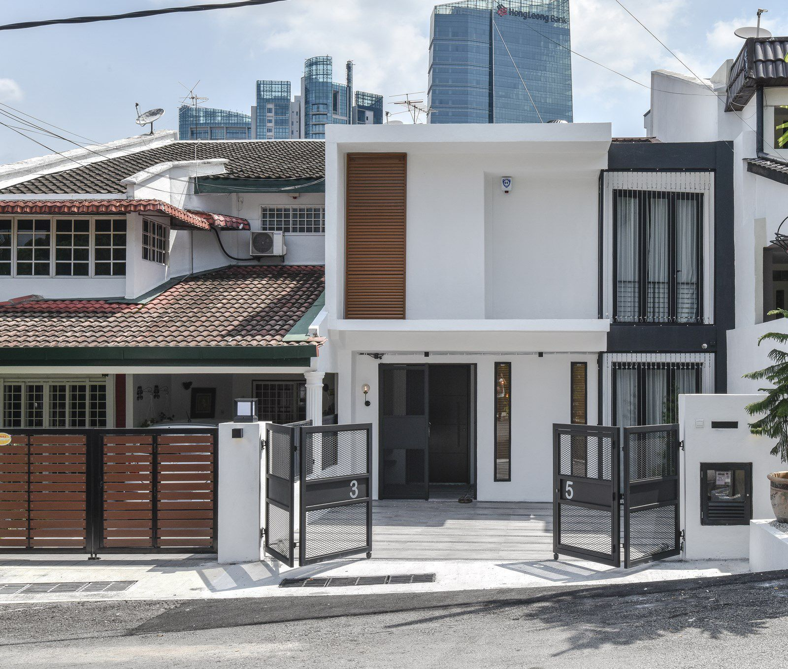 Modern Malaysian Terrace House Exterior Design Terrace House Exterior House Fence Design Porch Design