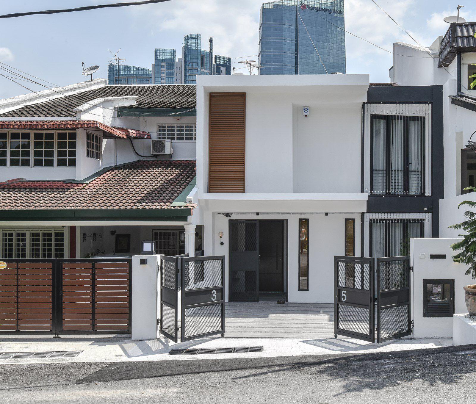 Modern Malaysian terrace house exterior design.   House ...