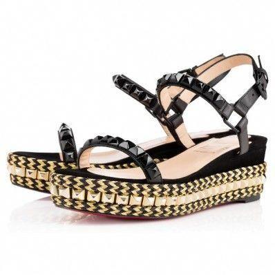 Christian Louboutin cataclou Black 60mm Suede Womens Sandals   ChristianLouboutin 9a6bc822e