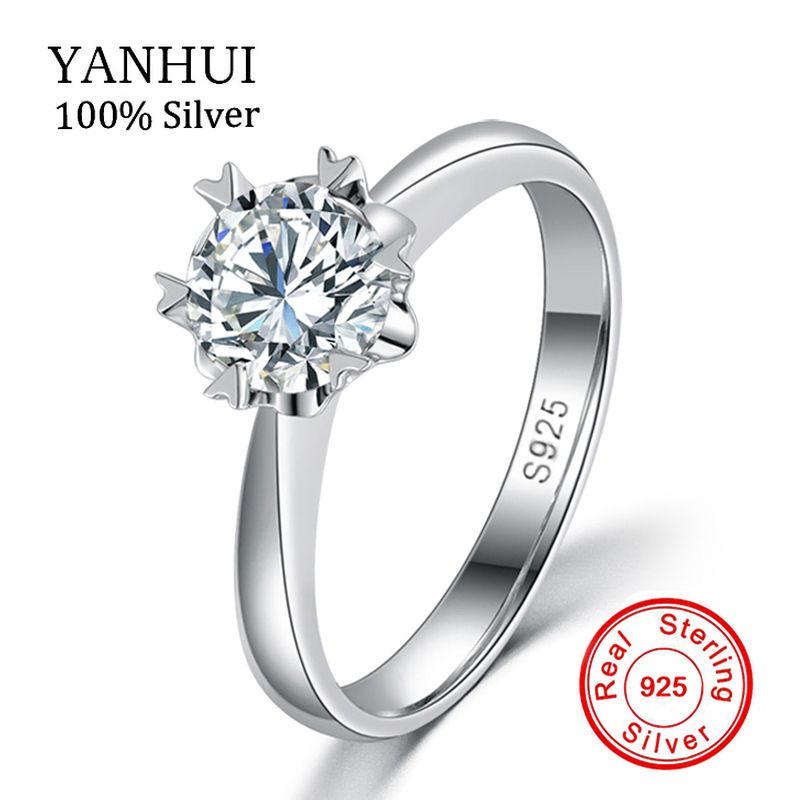 Luxury 100 Solid Silver Rings With S925 Stamp Real 925 Silver Rings