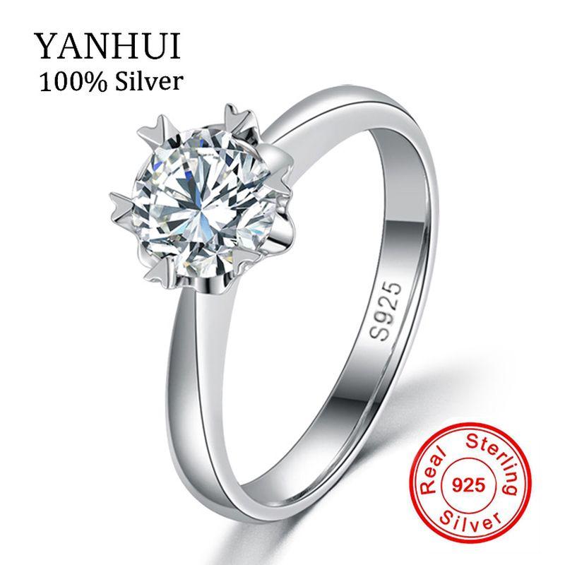 Luxus Massiv Silber Ringe Mit S925 Stempel Echt 925 Silber