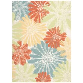 Home And Garden Home And Garden Ivory Rectangular Indoor/Outdoor Machine-Made Nature Area Rug (Common: 8 X 10; Actual: 7