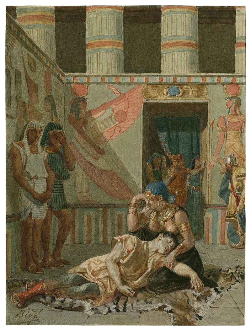 a late 19th century painting of act iv scene 15 cleopatra holds a late 19th century painting of act iv scene 15 cleopatra holds antony
