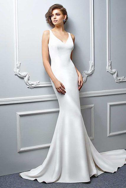 Beautiful Sleek Wedding Gowns Crest - Dress Ideas For Prom ...