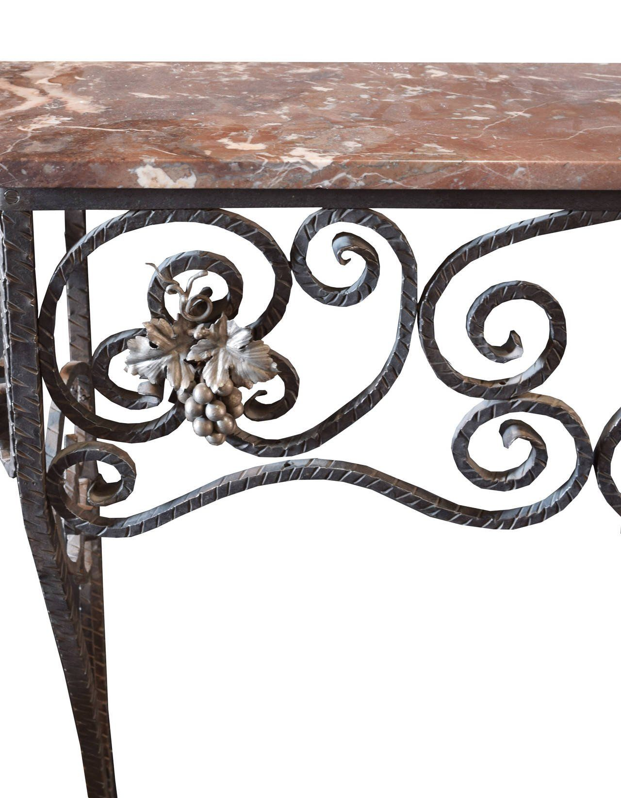 Fer Forge Console Table With Marble Top 3 Avec Images Fer