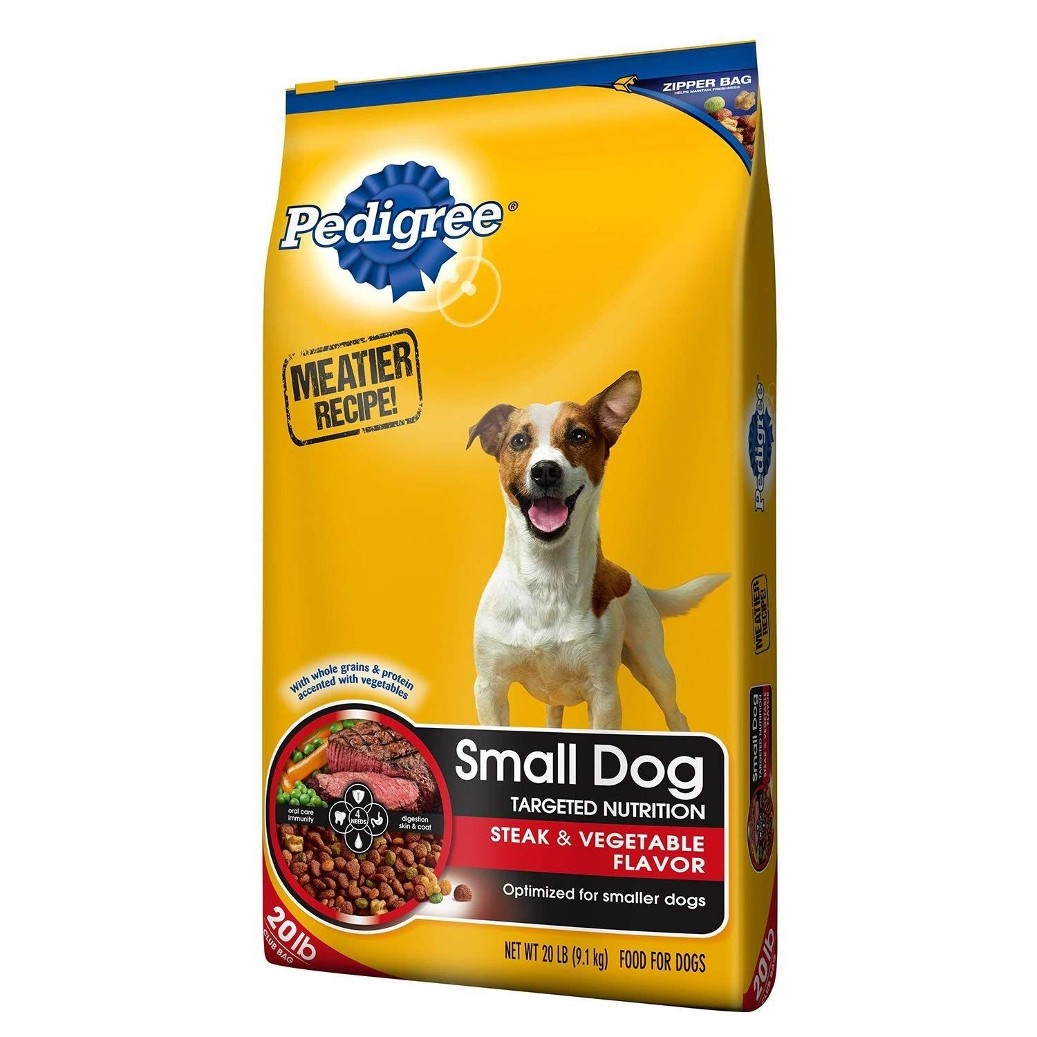 Pedigree Small Dog Targeted Nutrition Dog Food Steak And
