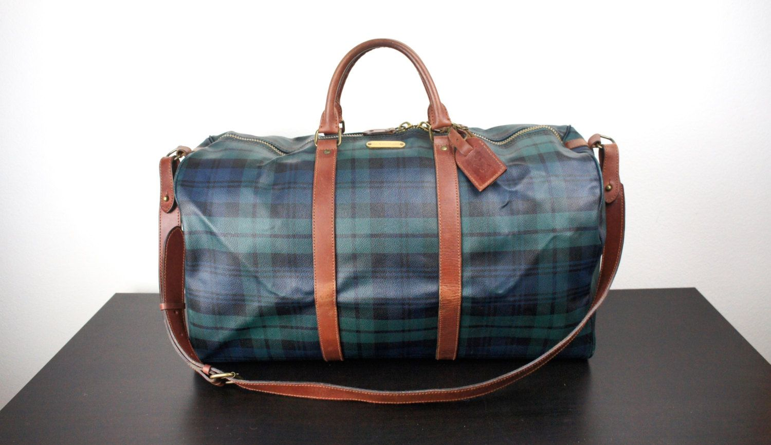 Vintage Ralph Lauren Duffle Travel Bag b2efc6a08b343