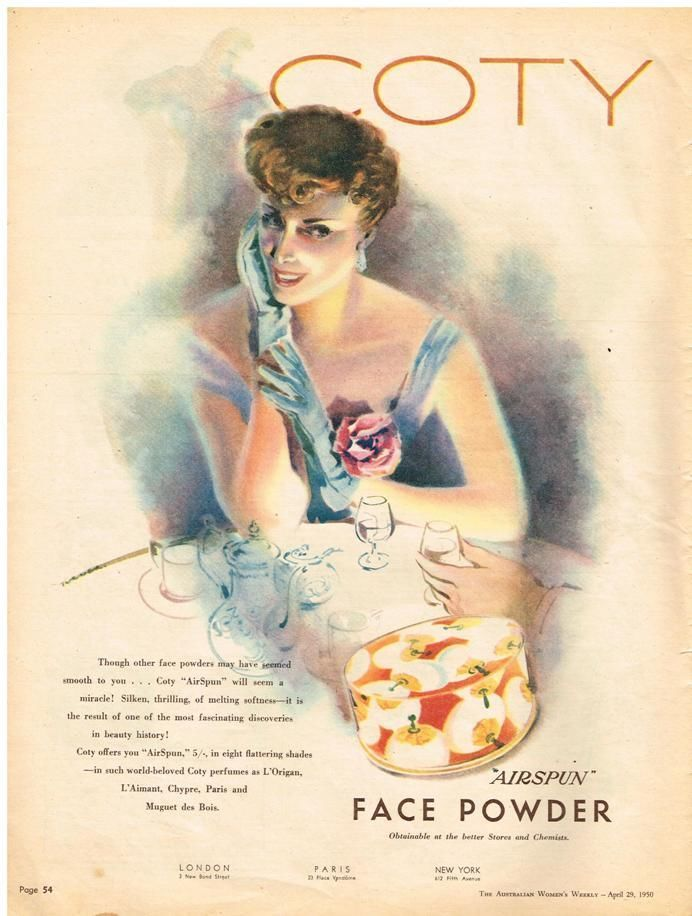 Australian Vintage Advertising Coty Quot Airspun Quot Face Powder