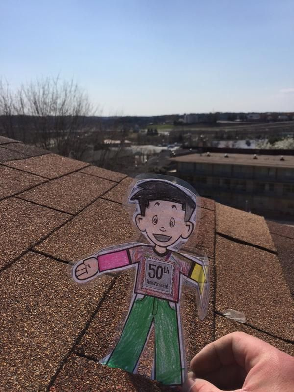 Flat Stanley Is Helping Us Out With Some Roof Inspections Roof Inspection Roof Construction Construction Services