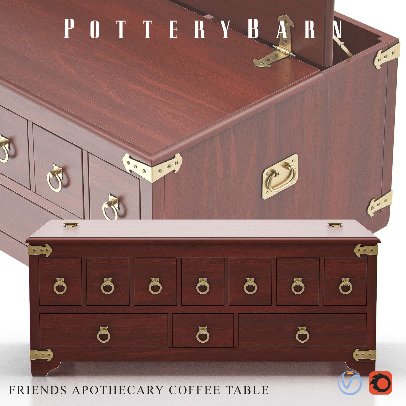 Friends Apothecary Coffee Table Pottery Barn Table Coffee Table Table [ 1600 x 1600 Pixel ]