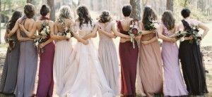 Berry & Jewel Tone Bridesmaid Dresses - http://alsofashion.com/berry-jewel-tone-bridesmaid-dresses/