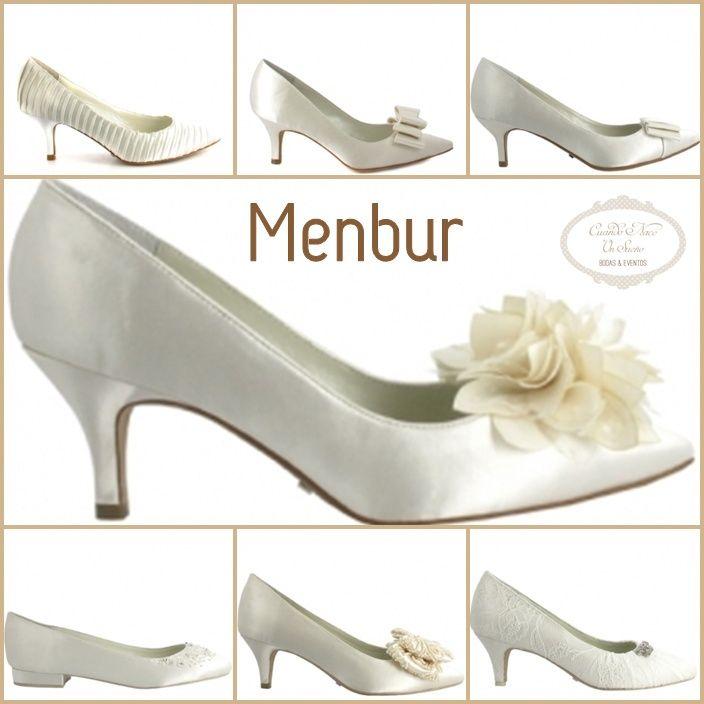 zapatos novia menbur wedding shoes. zapatos de novia con tacón medio
