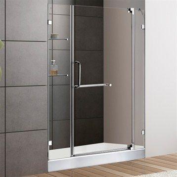 VIGO 48-inch Frameless Shower Door 3/8\