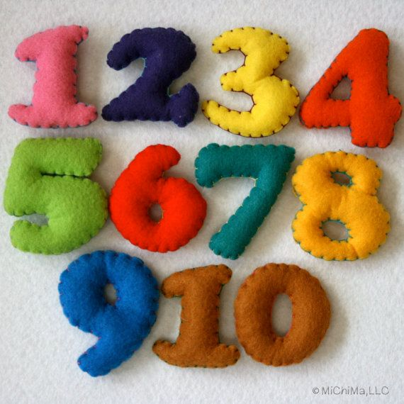 Baby Chronicle Kit Stuffed Felt Letters And Numbers In A Reusable Drawstring Bag New Baby Crafts Baby Crafts Felting Projects