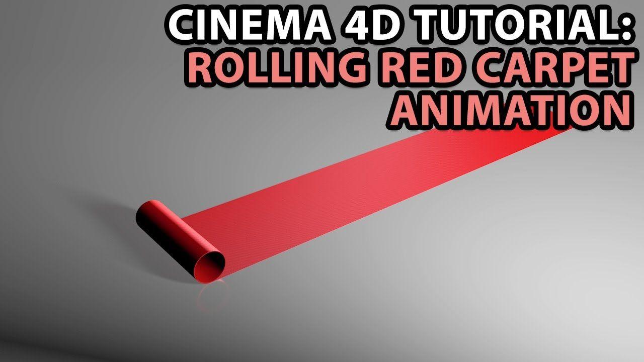 Cinema 4D Tutorial: Rolling Red Carpet Animation #C4D #Cinema4D #tutorial