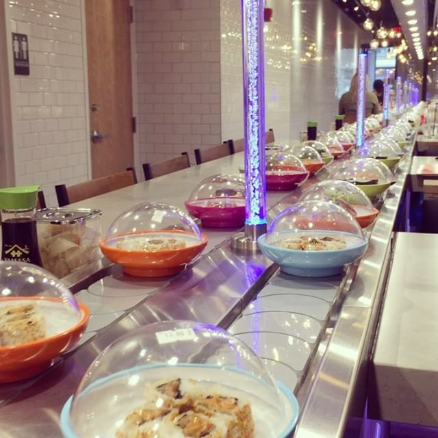 Follow The Fish At Yo Sushi A Conveyor Belt Restaurant Now Open