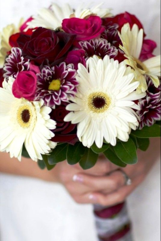 Fall Gerbera Daisy Bouquet fall wedding bo...