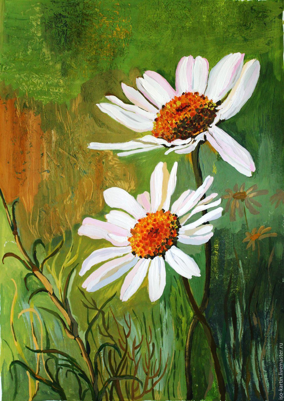 цветы гуашью фото