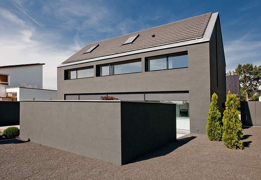 neubau eines einfamilienhauses mit carport design pinterest haus einfamilienhaus und. Black Bedroom Furniture Sets. Home Design Ideas