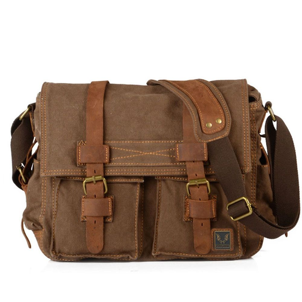 48a80213ac Vintage Canvas Pocket Leather Camera Backpack- Fenix Toulouse Handball