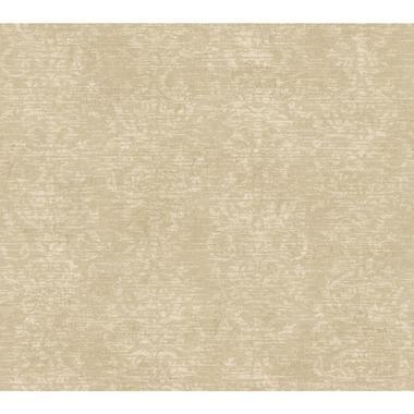 Texture Passport Distressed Damask Stripe GX8121 Fallow Brown Wallpaper
