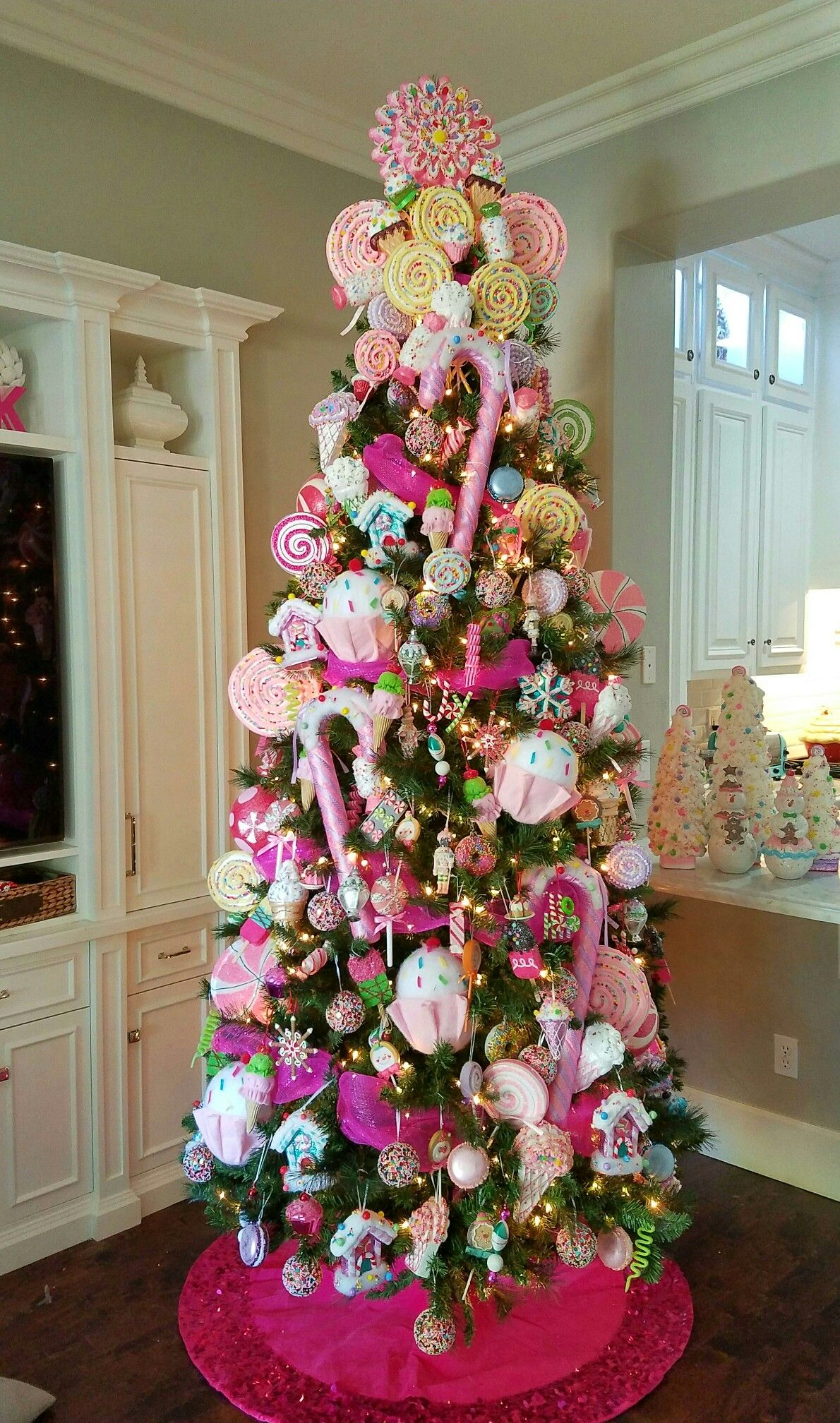 Candy Christmas tree. Candyland tree. Candy land tree. Sweet