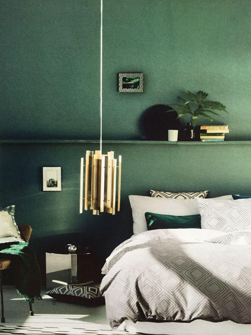 Zimmerfarbe stil dunkelgrün petrol wandfarbe  color  pinterest  bedroom bedroom