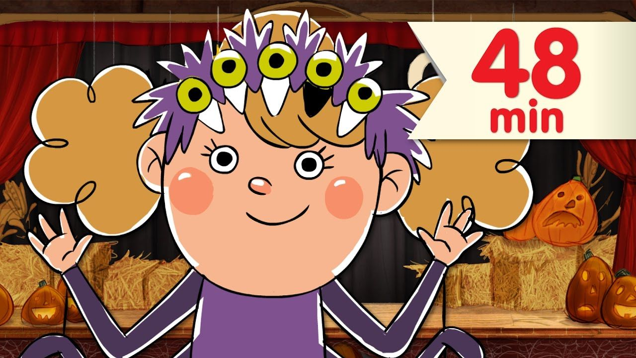 """super fun halloween counting song, """"five creepy spiders"""" from super"""