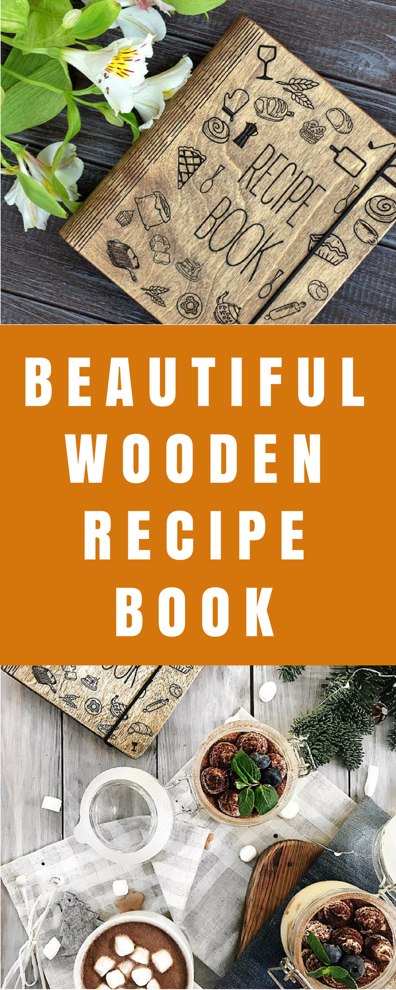 What an awesome gift custom recipe book binder bridal shower gift food what an awesome gift custom recipe book binder bridal shower gift wooden notebook personalized gift forumfinder Image collections