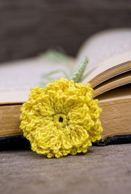 pot marigold flower bookmark