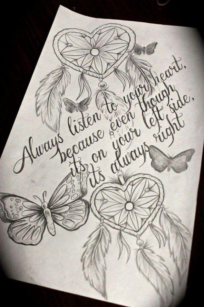 tattoo,heart,dreamcatcher,love,followyourheart,quote ...